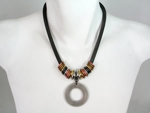Mesh Necklace with Mesh Drop | Erica Zap Designs