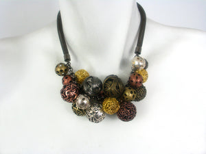 Multicolor Wire Bead Cluster Necklace | Erica Zap Designs