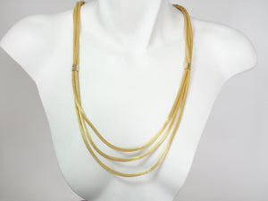Multi Strand Gold Mesh Necklace | Erica Zap Designs