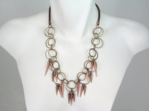 Mesh Necklace with Linked Circle Chain & Cones | Erica Zap Designs