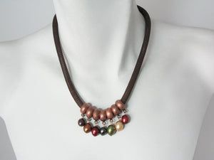 Mesh Necklace with Pearl Drops | Erica Zap Designs