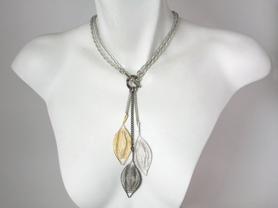 2-Way Mesh & Metal Petal Necklace | Erica Zap Designs