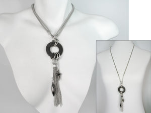 2-Way Mesh & Tassel Drop Necklace | Erica Zap Designs
