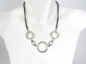 Mesh Necklace with Circles | Erica Zap Designs