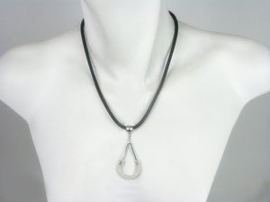 Thin Mesh Necklace with Mesh and Metal Drop | Erica Zap Designs