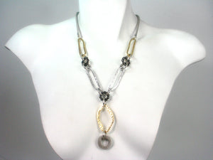 Mesh and Metal Y Necklace | Erica Zap Designs