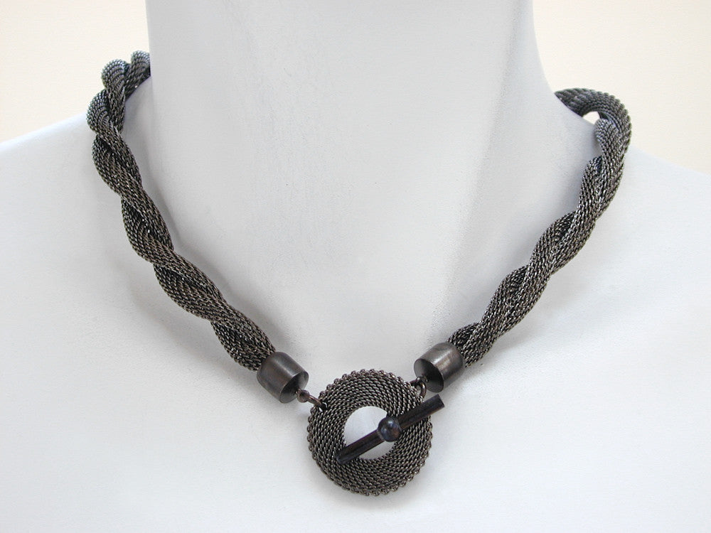 Twist Mesh Necklace with Front Mesh Toggle | Erica Zap Designs