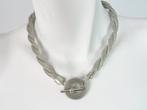 Twisted Mesh Necklace with Mesh Toggle | Erica Zap Designs