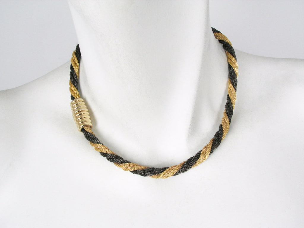 Thin Twisted Mesh Necklace with Magnetic Clasp | Erica Zap Designs