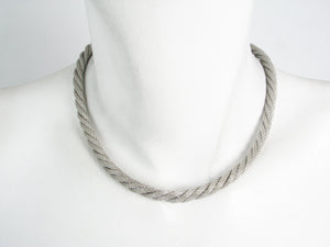 2-Tone Thin Twisted Mesh Necklace | Erica Zap Designs