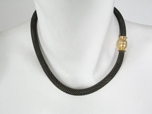 Mesh Necklace with Magnetic Ball Clasp | Erica Zap Designs