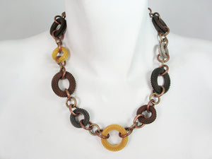 Multi Ring Mesh Necklace | Erica Zap Designs