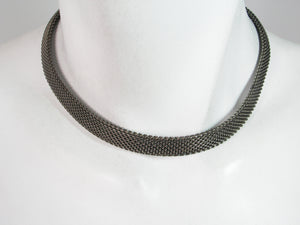 Thin Choker with Mesh Toggle | Erica Zap Designs