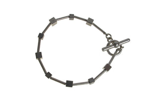 Sterling Cube and Tube Bracelet | Erica Zap Designs