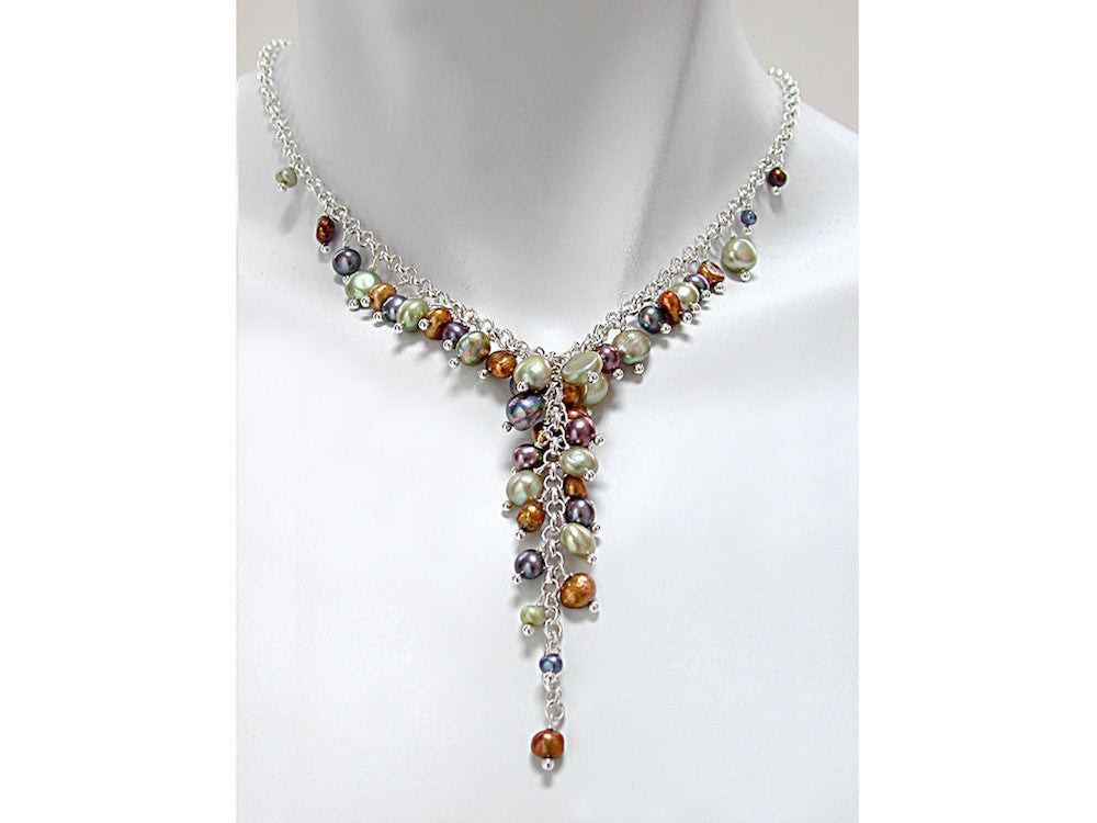 Full Pearl Drop Necklace - Erica Zap Designs