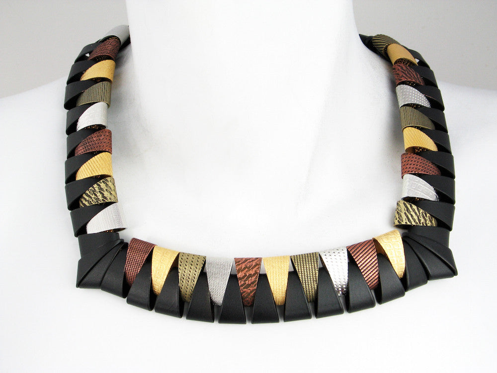 Multi Tone Square Collar - Erica Zap Designs