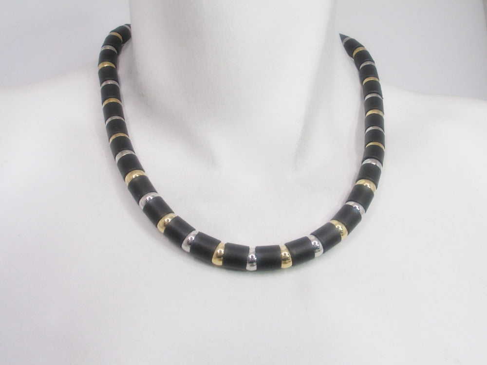 Tube and Ball Necklace