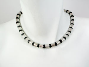Textured Tube & Ball Necklace | Erica Zap Designs