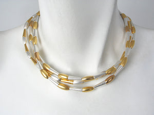 3-Strand Cone and Oval Necklace | Erica Zap Designs