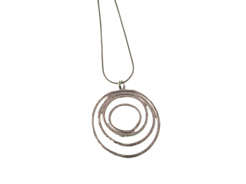 Multi-Circle Sterling Pendant Necklace - Erica Zap Designs