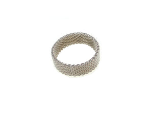 Narrow Sterling Mesh Ring