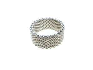 Wide Sterling Mesh Ring