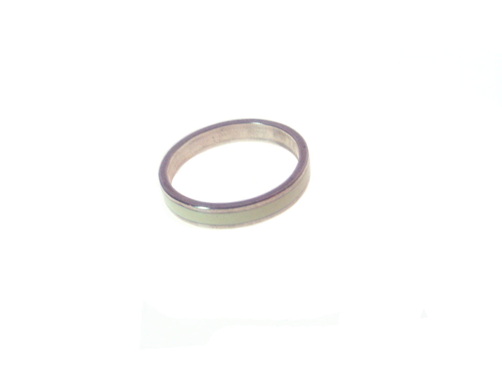 Sterling Silver with  Ivory Inlay  Ring