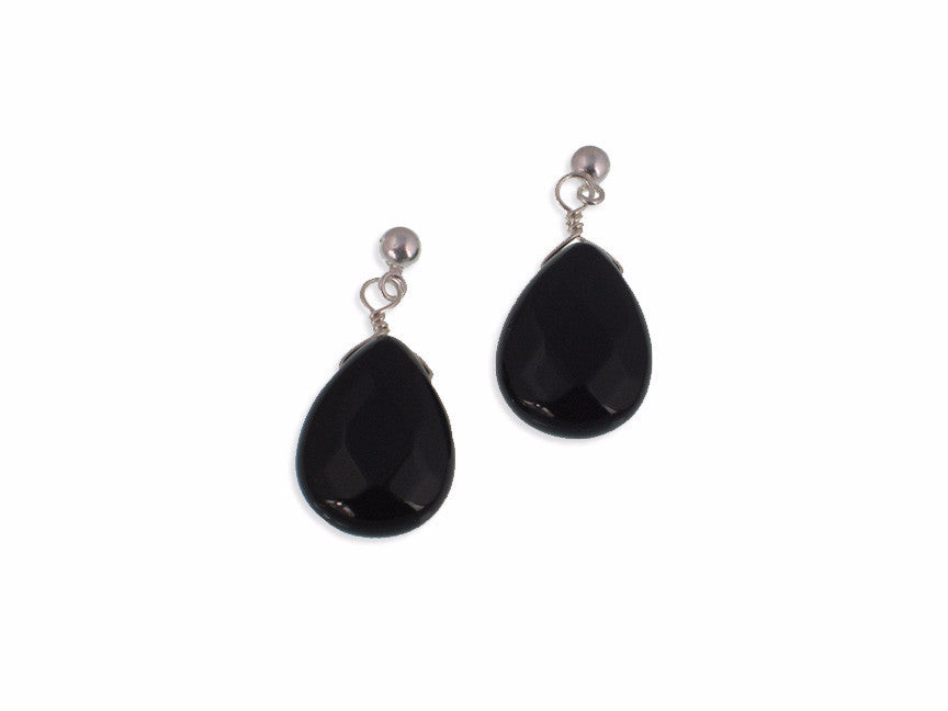 Faceted Teardrop Stone Earrings, Large | Erica Zap Designs