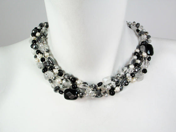 5-Strand Quartz Necklace - Erica Zap Designs