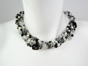 5-Strand Pearl and Quartz Necklace | Erica Zap Designs