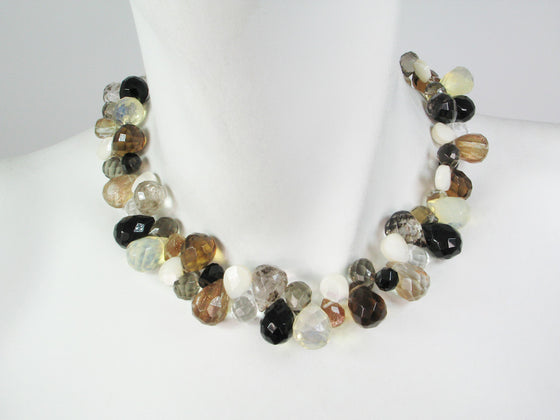 Briolette Stone Necklace | Rutilated Quartz Mix - Erica Zap Designs