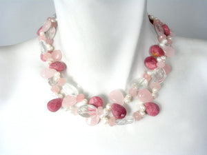 Stone and Pearl Necklace | Erica Zap Designs
