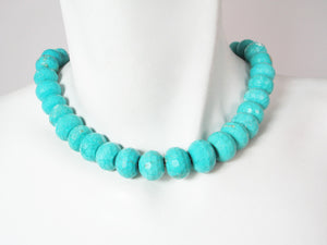 Turquoise Rondelle Necklace | Erica Zap Designs