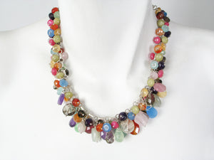 Bright Mix Stone Cluster Necklace | Erica Zap Designs