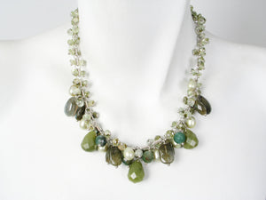 Green Stone Cluster Necklace | Erica Zap Designs