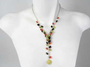 Stone Y Necklace | Erica Zap Designs