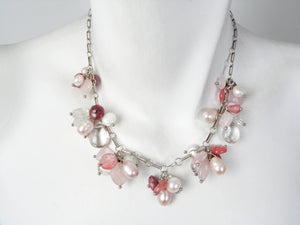 Rose Quartz and Pearl Necklace | Erica Zap Designs