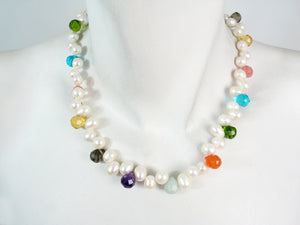 Freshwater Pearl and Crystal Necklace | Erica Zap Designs