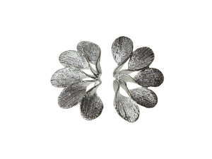 Sterling Petal Fan Earrings | Erica Zap Designs