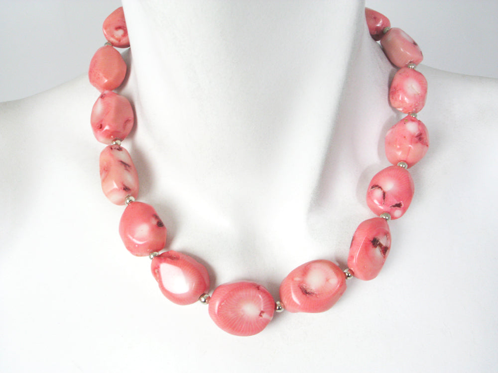 Pink Oval Coral Necklace | Erica Zap Designs