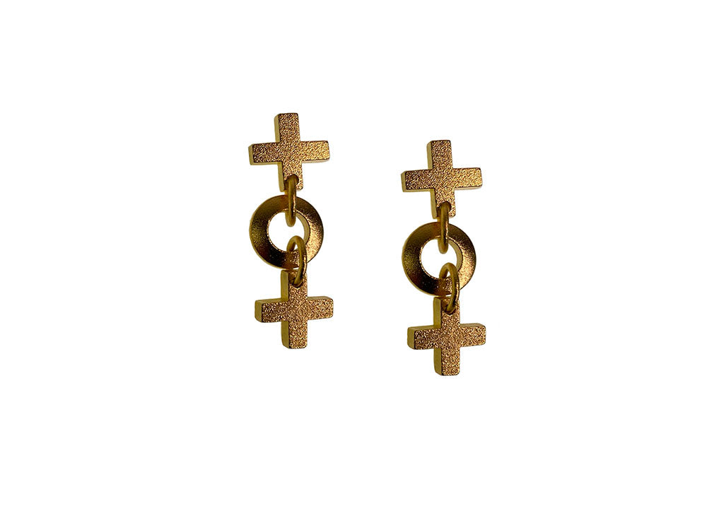 Tic Tac Toe Earrings