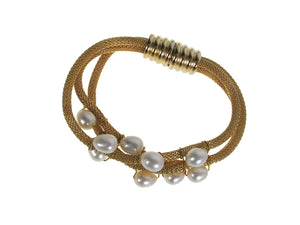 Pearl and Mesh Magnetic Bracelet | Erica Zap Designs