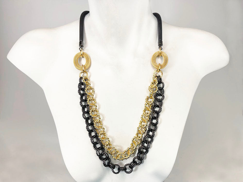 Multi-Chain Mesh Necklace