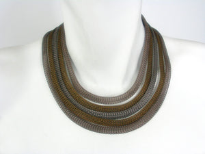 5 Strand Antique Mesh Necklace | Erica Zap Designs