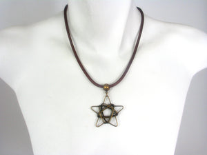 Mesh Necklace with Wire Star | Erica Zap Designs