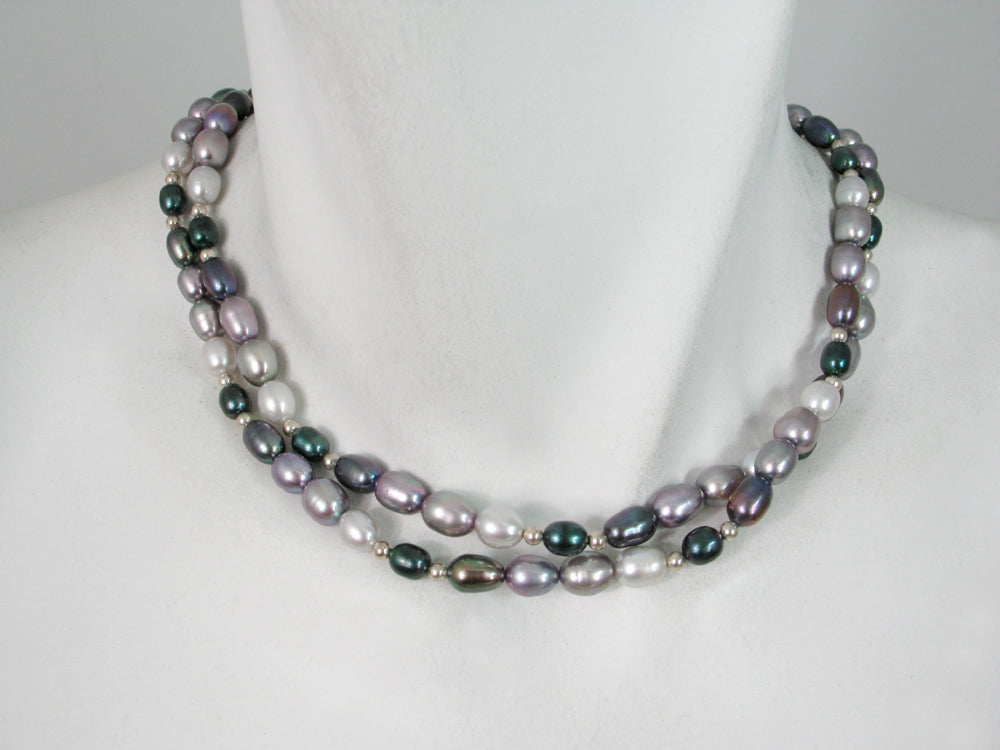 2-Strand Pearl and Sterling Necklace | Erica Zap Designs