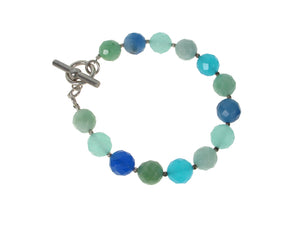 Faceted Blue Quartz Bracelet | Erica Zap Designs