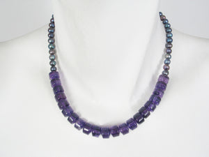 Amethyst and Pearl Necklace | Erica Zap Designs