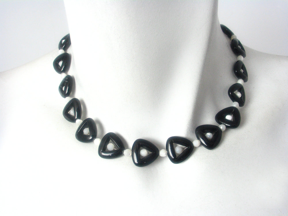 Onyx and Mother of Pearl Necklace