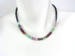 Fluorite and Pearl Necklace | Erica Zap Designs